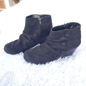 Call it Spring   black wedged booties